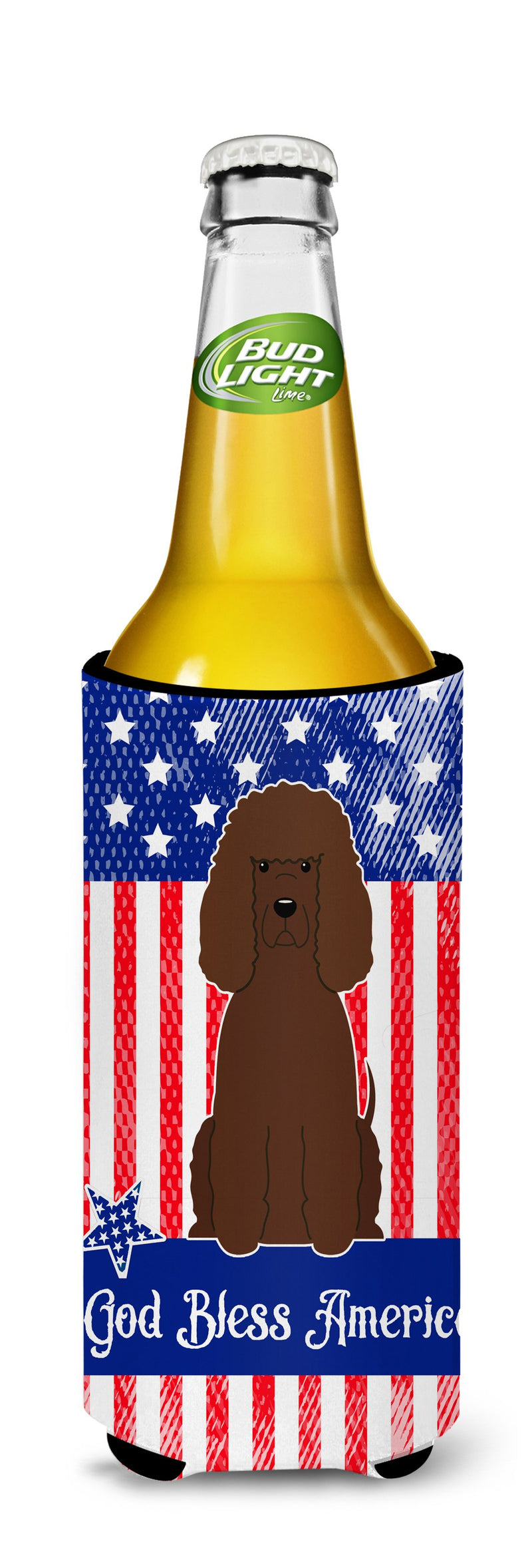 Buy this Patriotic USA Irish Water Spaniel Michelob Ultra Hugger for slim cans BB3058MUK