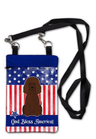 Buy this Patriotic USA Irish Water Spaniel Crossbody Bag Purse BB3058OBDY