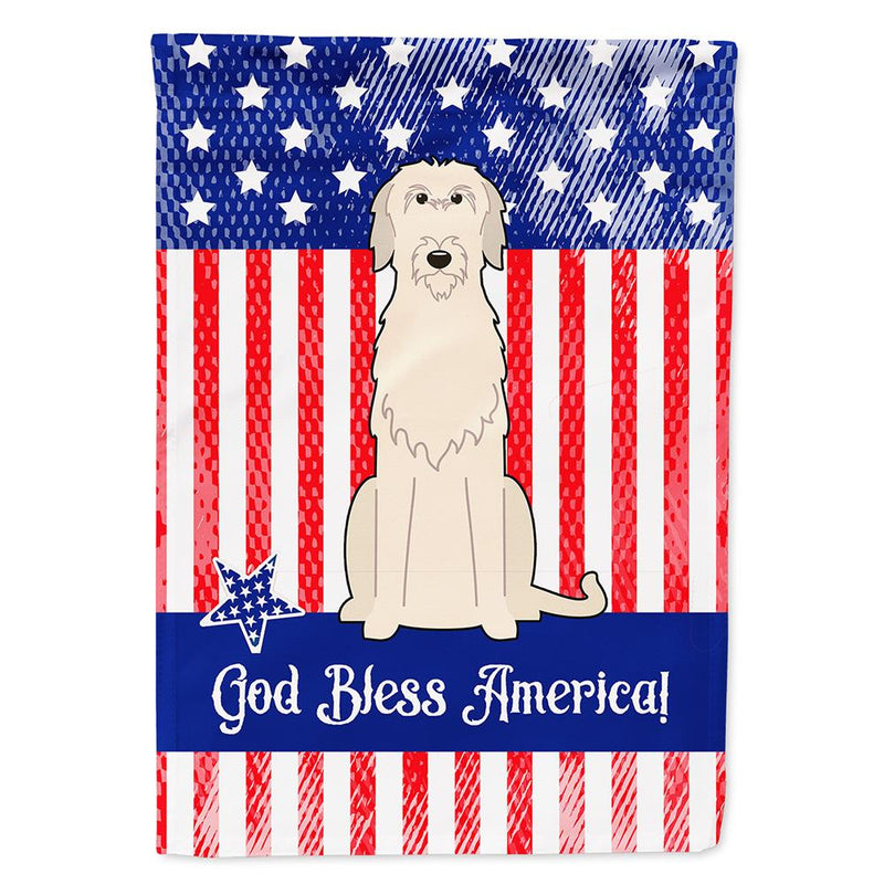 Buy this Patriotic USA Irish Wolfhound Flag Garden Size