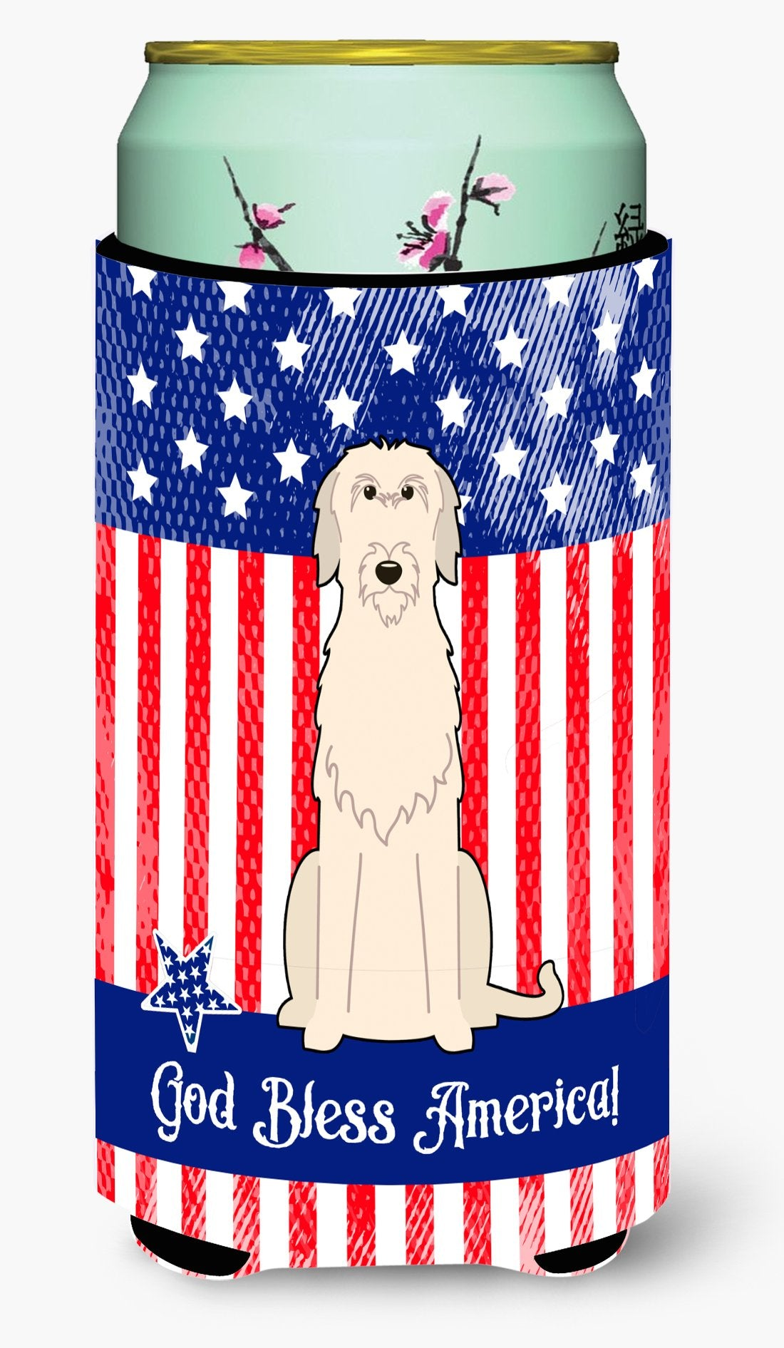 Buy this Patriotic USA Irish Wolfhound Tall Boy Beverage Insulator Hugger