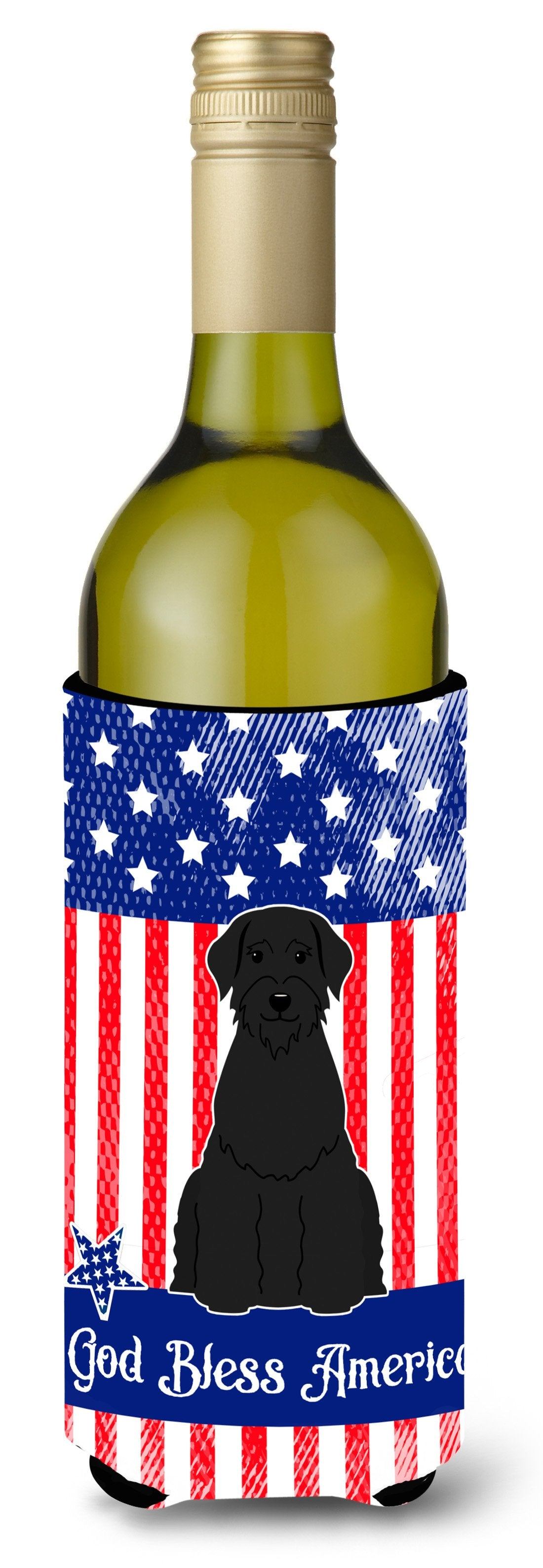 Buy this Patriotic USA Giant Schnauzer Wine Bottle Beverge Insulator Hugger