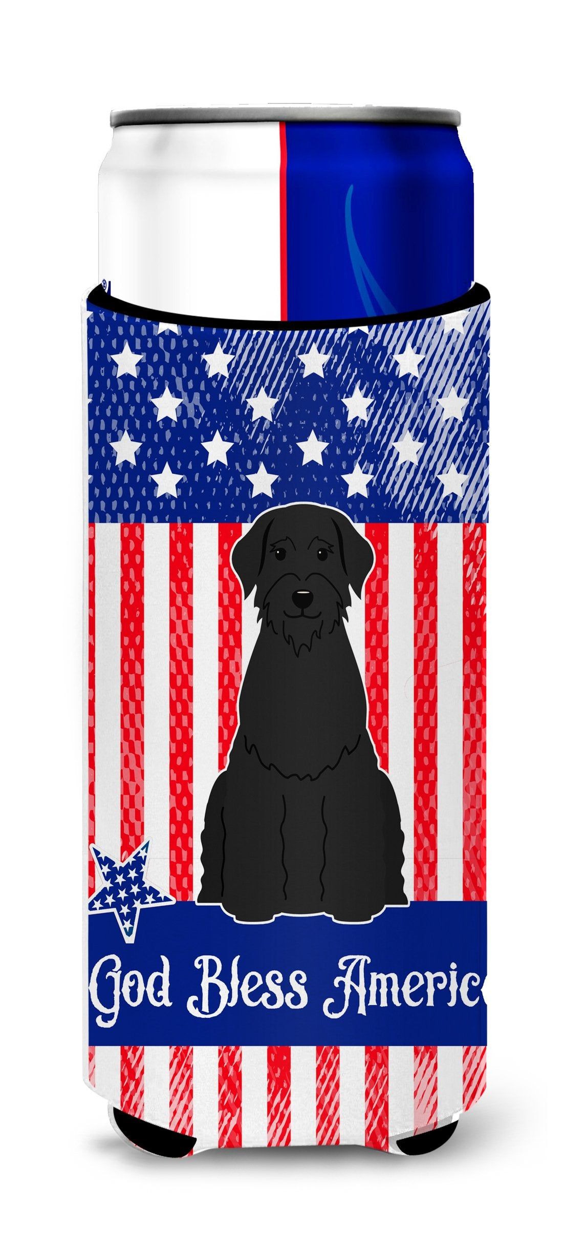 Patriotic USA Giant Schnauzer Michelob Ultra Hugger for slim cans BB3061MUK by Caroline's Treasures