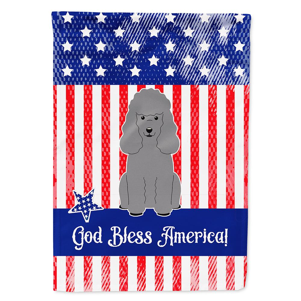 Buy this Patriotic USA Poodle Silver Flag Garden Size