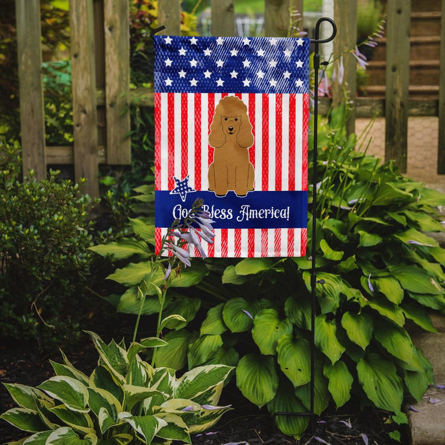 Buy this Patriotic USA Poodle Tan Flag Garden Size BB3064GF
