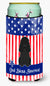 Buy this Patriotic USA Poodle Black Tall Boy Beverage Insulator Hugger