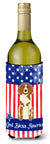 Buy this Patriotic USA Brittany Spaniel Wine Bottle Beverge Insulator Hugger