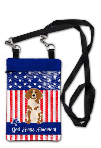 Buy this Patriotic USA Brittany Spaniel Crossbody Bag Purse BB3067OBDY