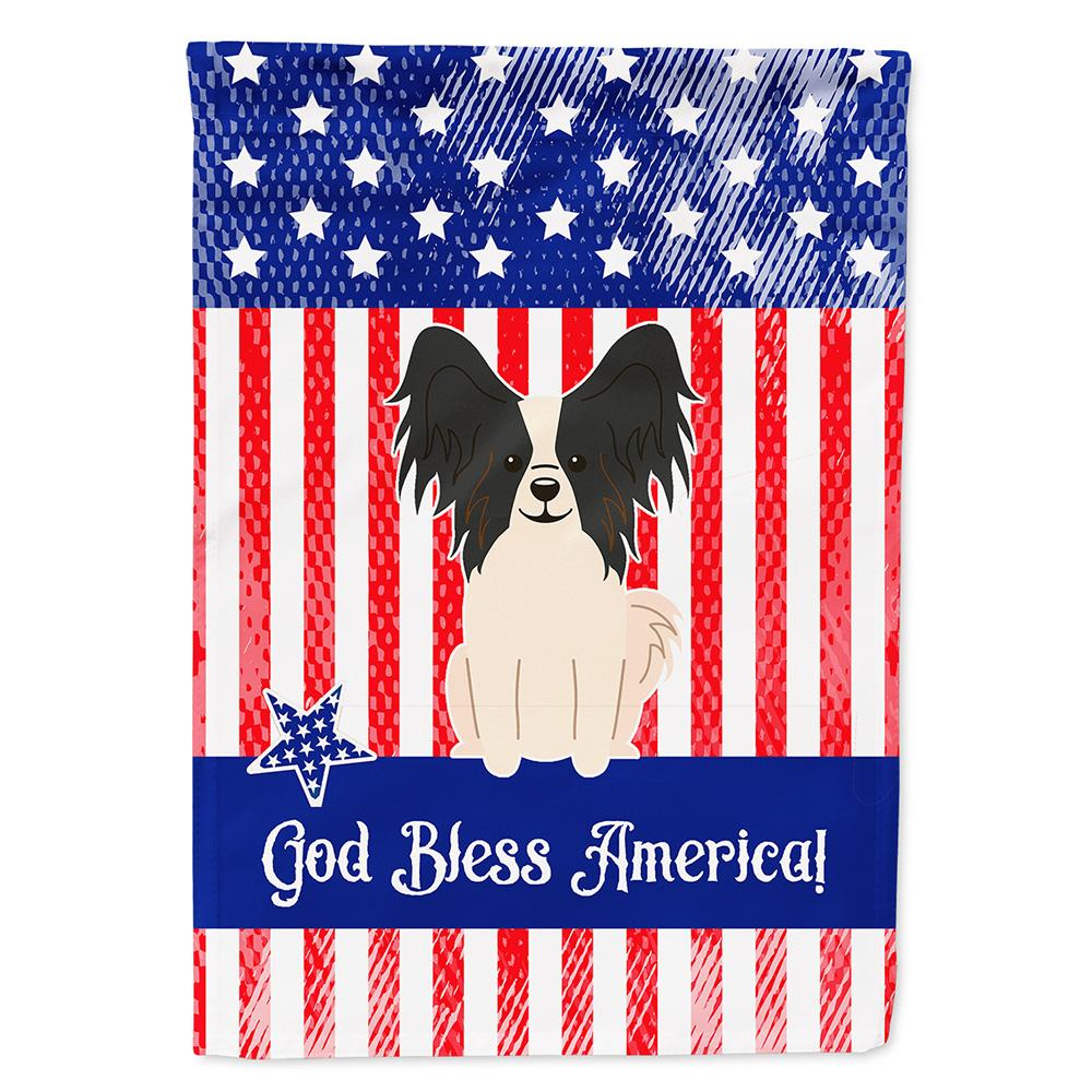 Buy this Patriotic USA Papillon Black White Flag Garden Size