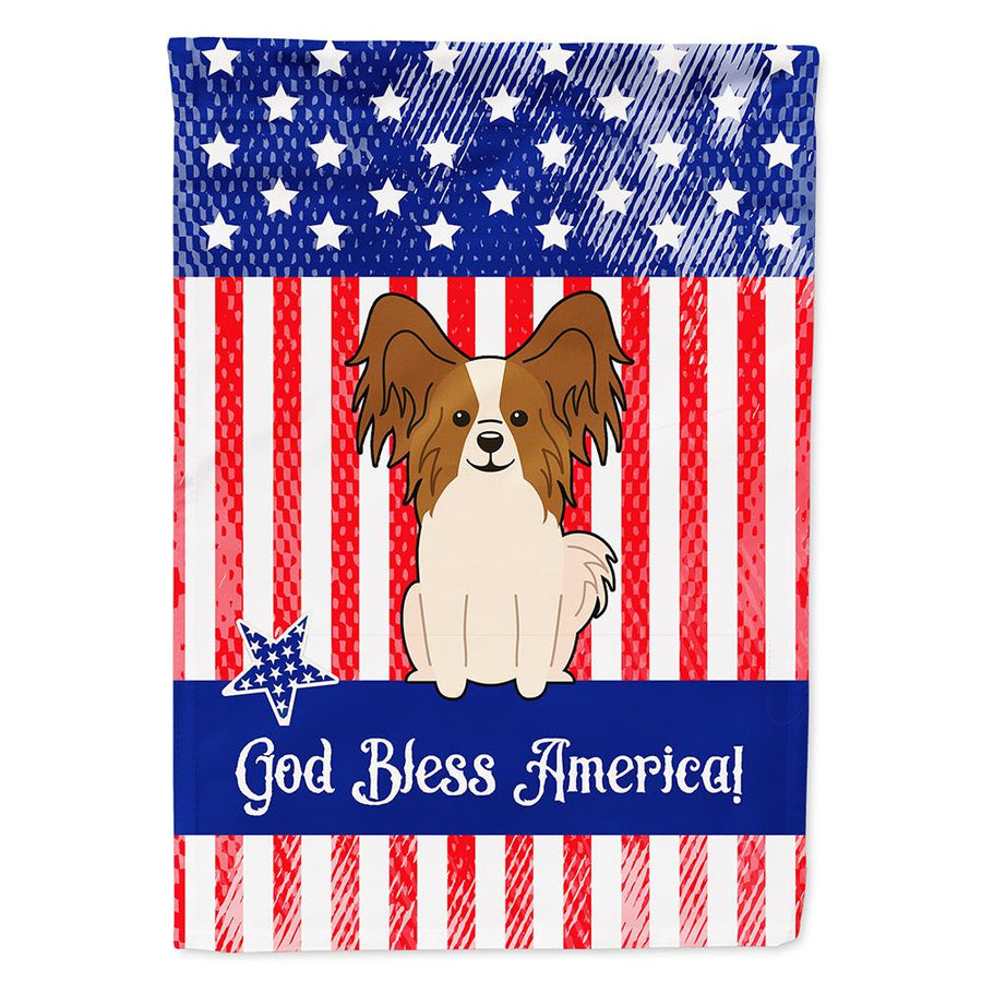 Buy this Patriotic USA Papillon Red White Flag Garden Size