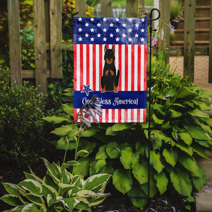 Buy this Patriotic USA Beauce Shepherd Dog Flag Garden Size BB3075GF