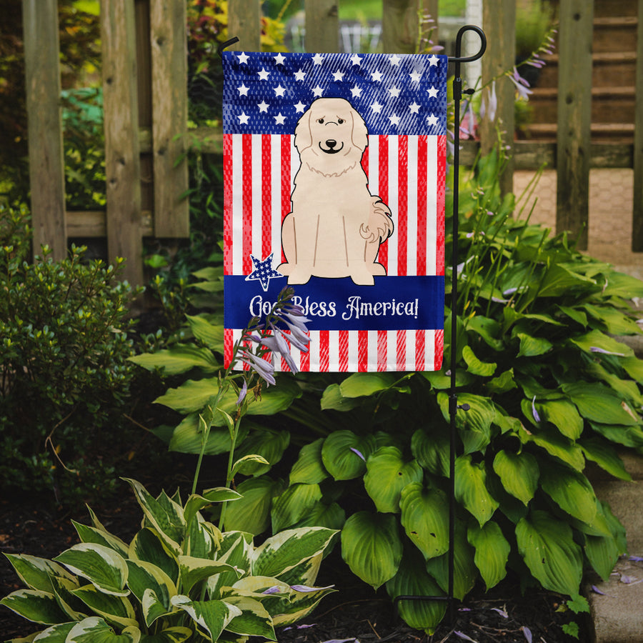 Buy this Patriotic USA Great Pyrenese Flag Garden Size BB3078GF