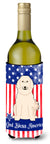 Buy this Patriotic USA Great Pyrenese Wine Bottle Beverge Insulator Hugger