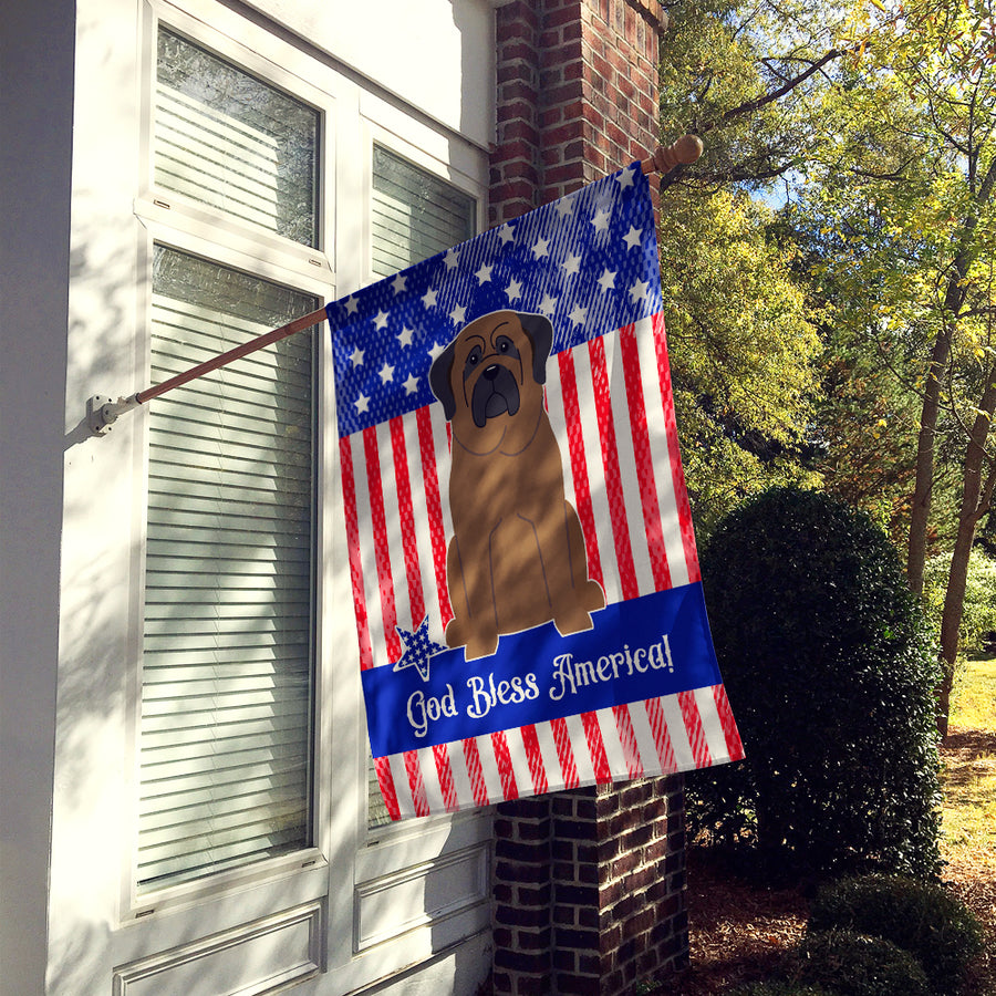Buy this Patriotic USA Bullmastiff Flag Canvas House Size BB3079CHF