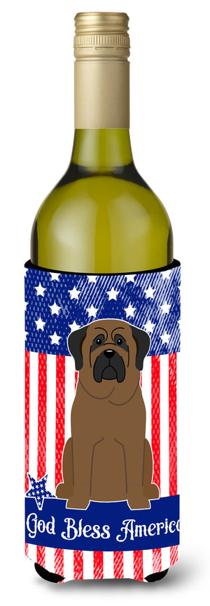 Buy this Patriotic USA Bullmastiff Wine Bottle Beverge Insulator Hugger BB3079LITERK
