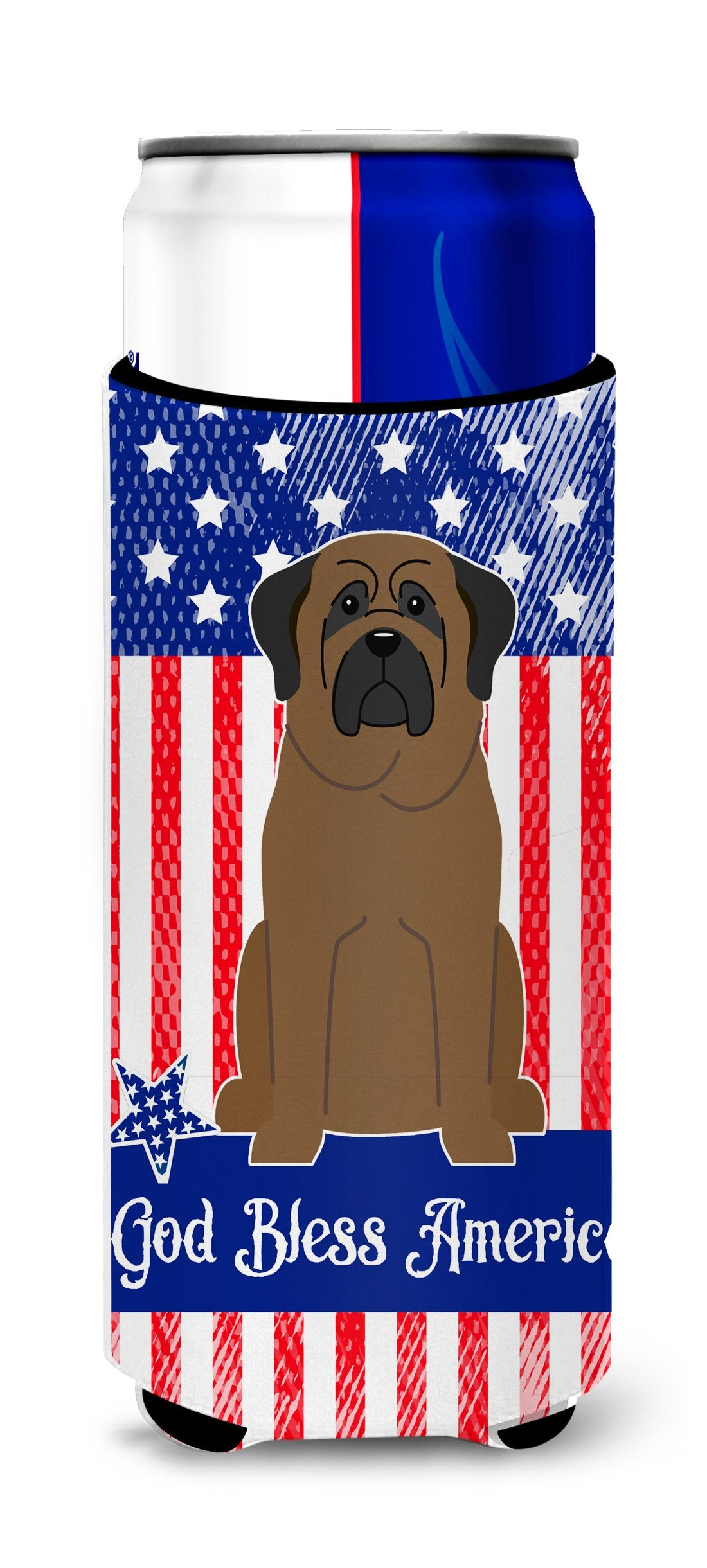 Buy this Patriotic USA Bullmastiff Michelob Ultra Hugger for slim cans BB3079MUK