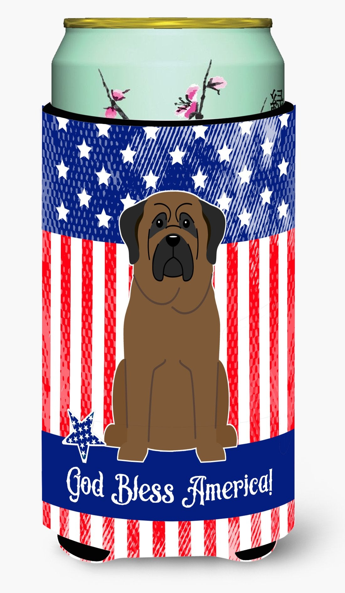 Buy this Patriotic USA Bullmastiff Tall Boy Beverage Insulator Hugger