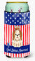 Buy this Patriotic USA Shih Tzu Red White Tall Boy Beverage Insulator Hugger