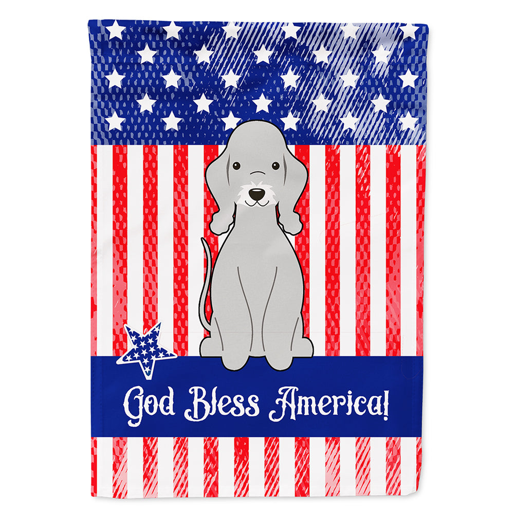 Buy this Patriotic USA Bedlington Terrier Blue Flag Canvas House Size BB3085CHF
