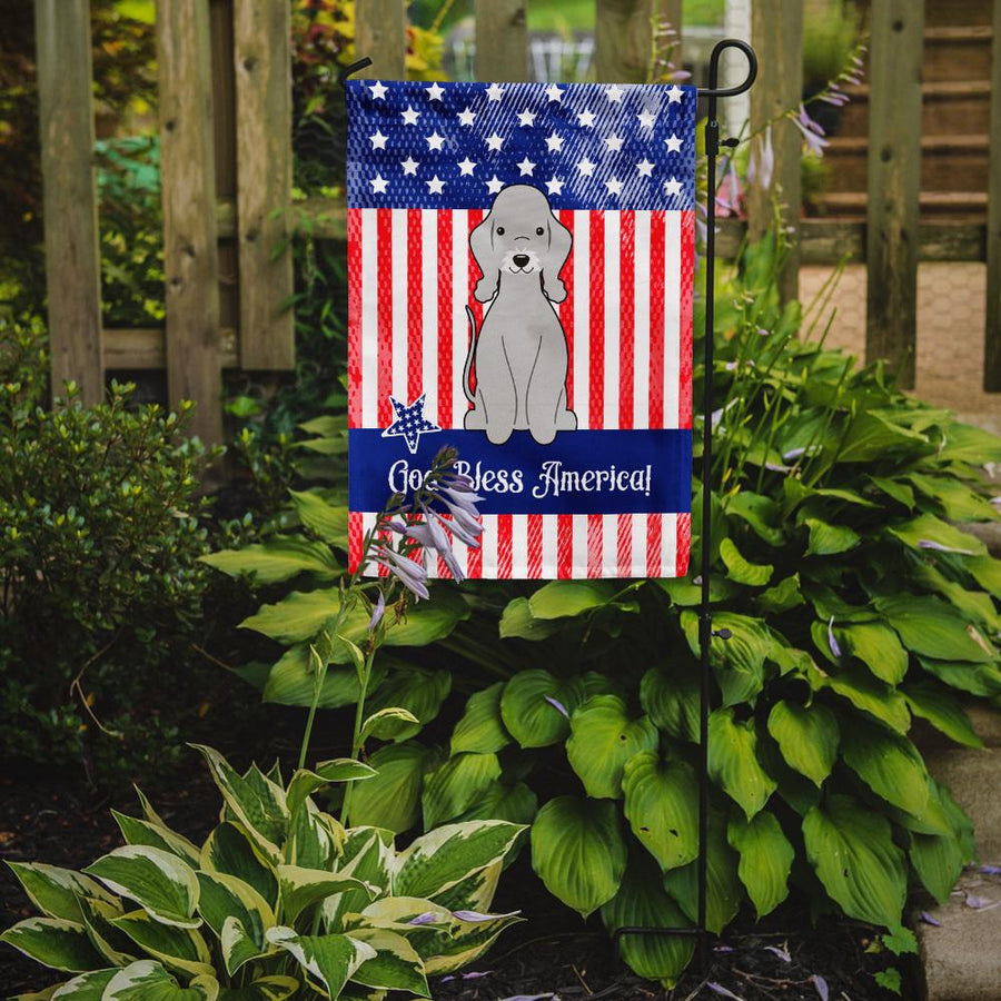 Buy this Patriotic USA Bedlington Terrier Blue Flag Garden Size BB3085GF