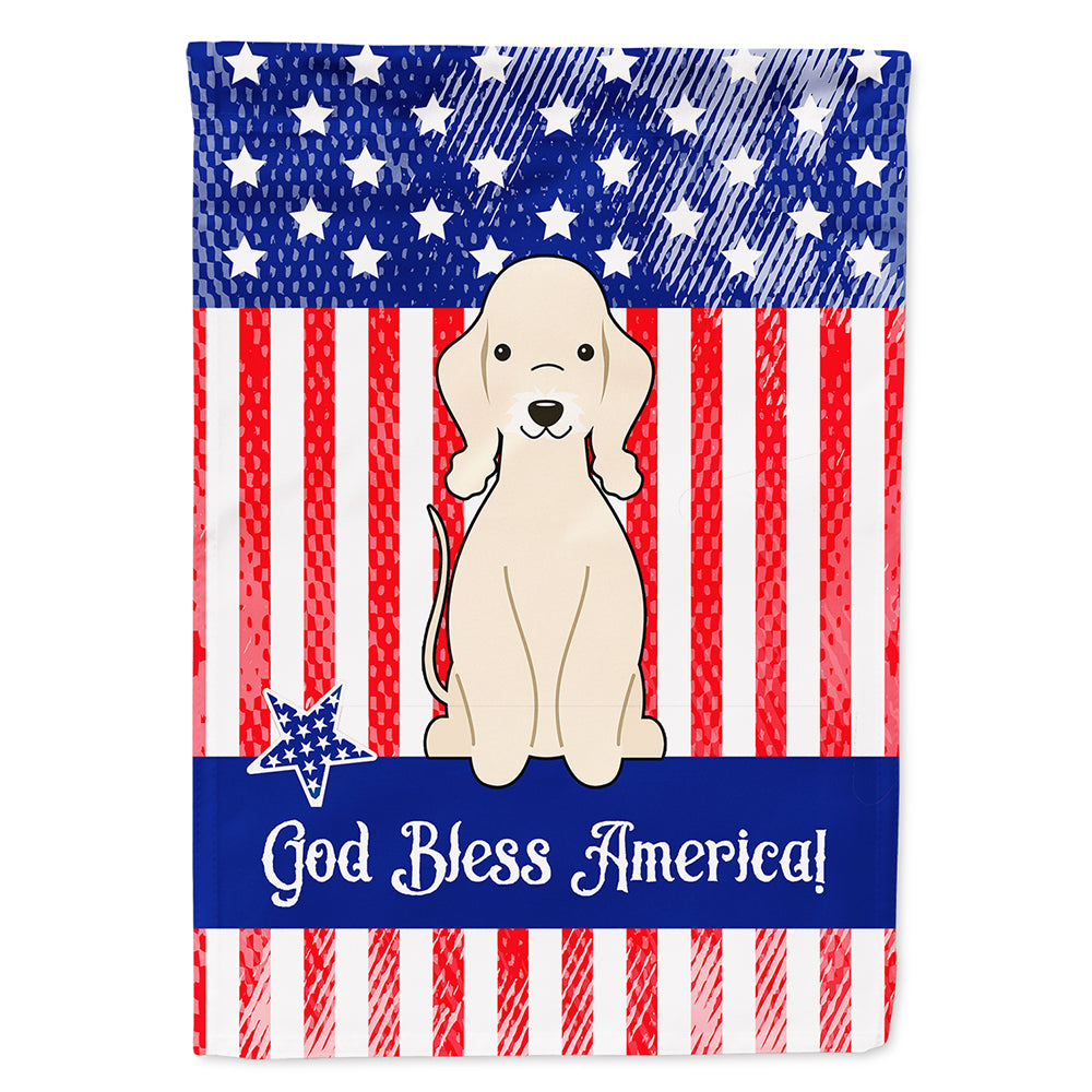 Buy this Patriotic USA Bedlington Terrier Sandy Flag Canvas House Size BB3086CHF