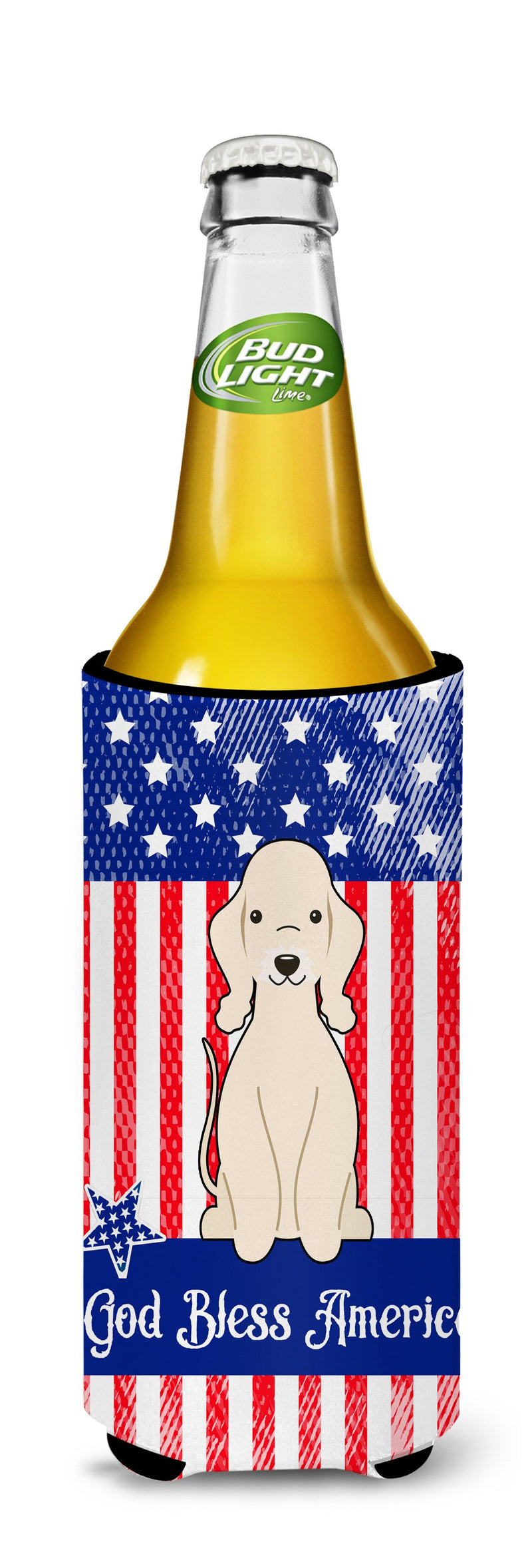 Buy this Patriotic USA Bedlington Terrier Sandy Michelob Ultra Hugger for slim cans BB3086MUK