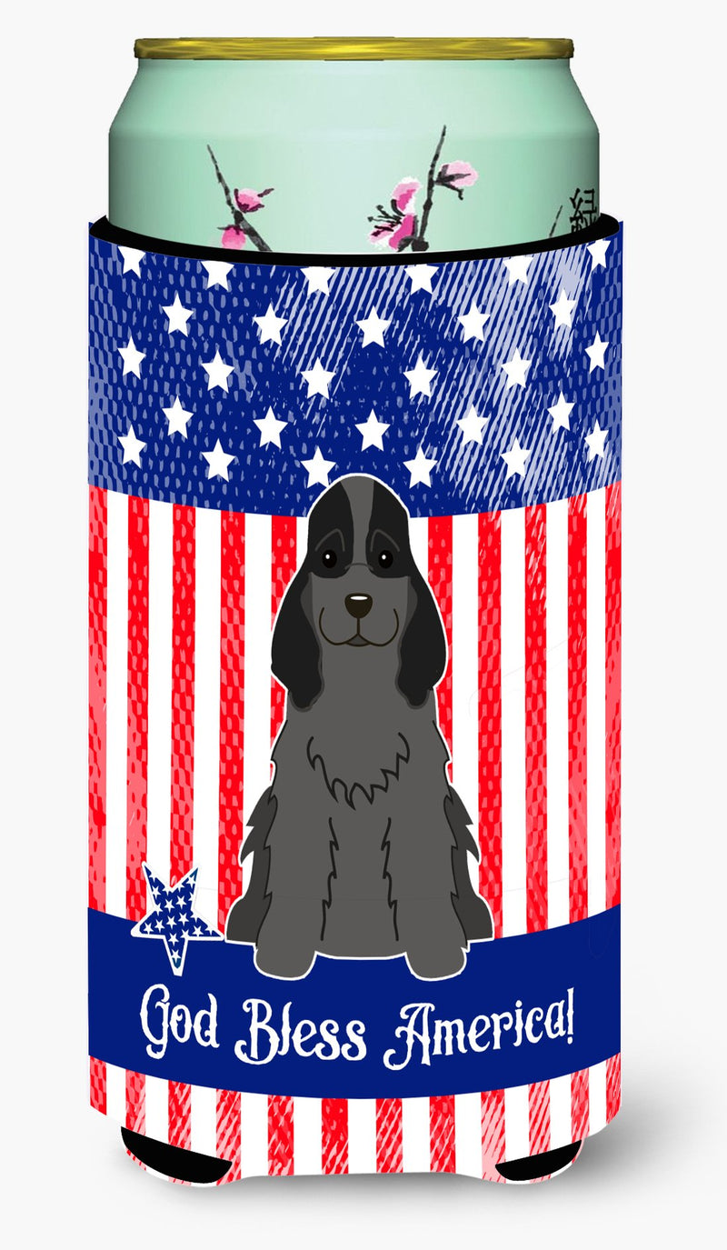 Buy this Patriotic USA Cocker Spaniel Black Tall Boy Beverage Insulator Hugger