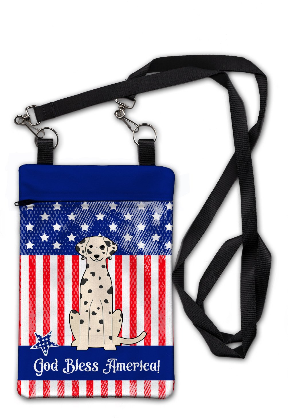 Patriotic USA Dalmatian Crossbody Bag Purse BB3092OBDY by Caroline's Treasures