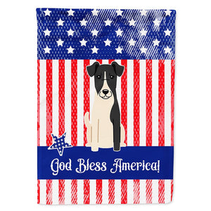 Buy this Patriotic USA Smooth Fox Terrier Flag Garden Size