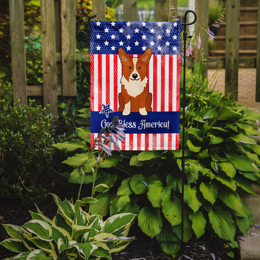 Buy this Patriotic USA Corgi Flag Garden Size