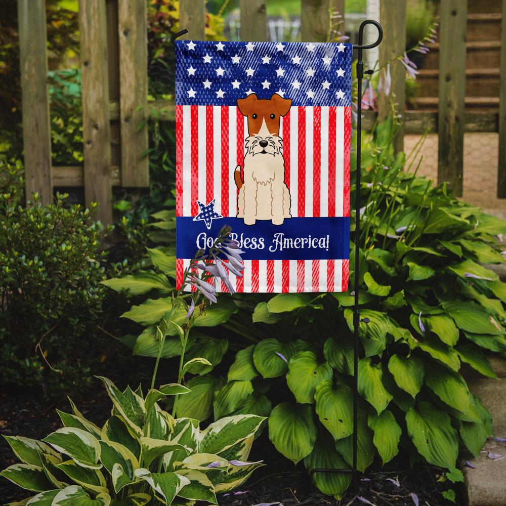 Patriotic USA Wire Fox Terrier Flag Garden Size BB3096GF by Caroline's Treasures