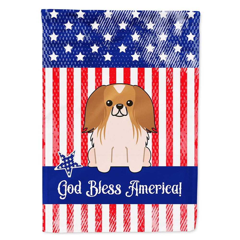 Buy this Patriotic USA Pekingnese Red White Flag Garden Size BB3098GF