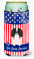 Buy this Patriotic USA Pekingnese Black White Tall Boy Beverage Insulator Hugger