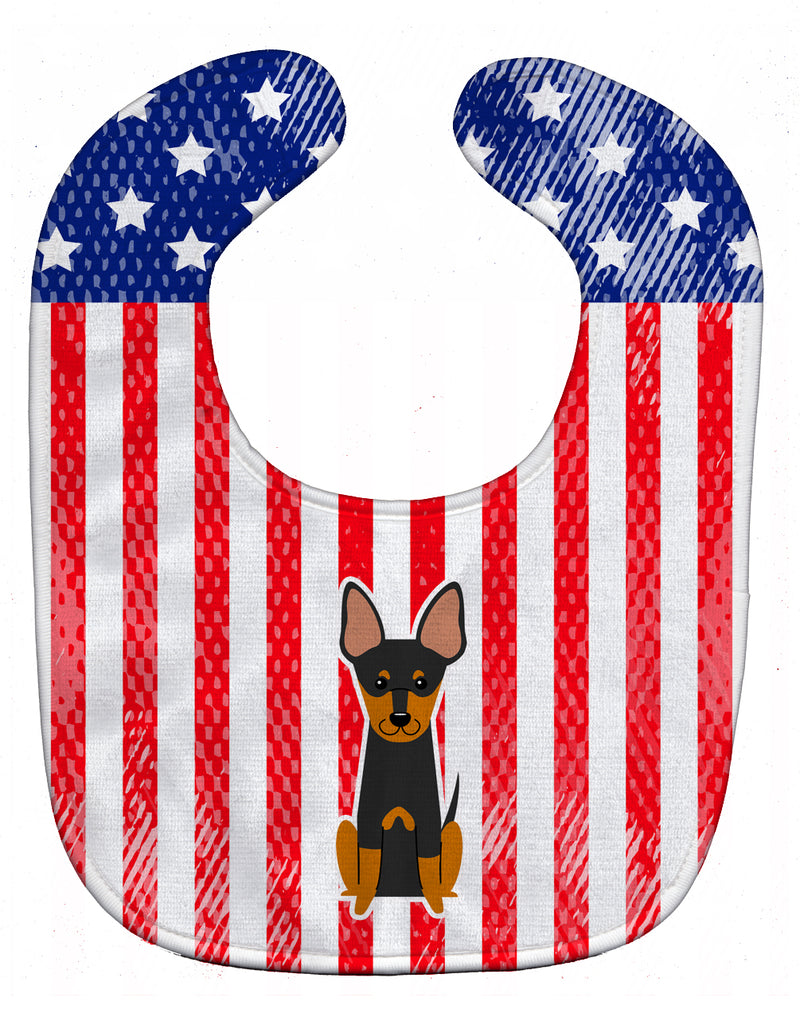 Buy this Patriotic USA English Toy Terrier Baby Bib