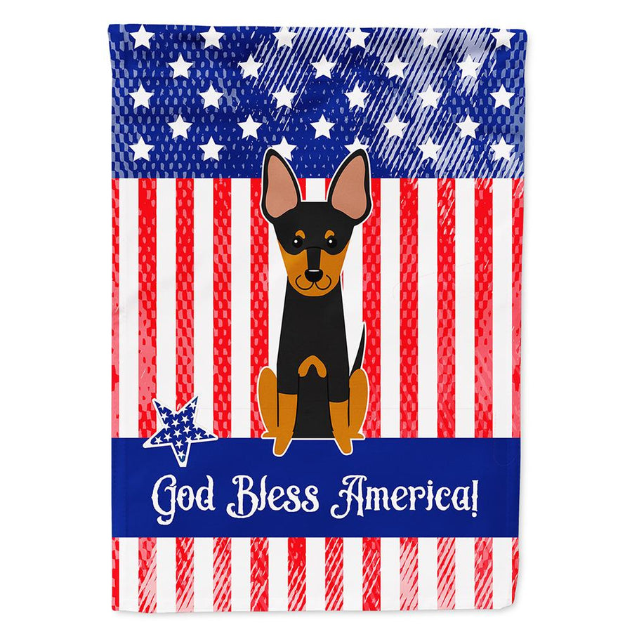 Buy this Patriotic USA English Toy Terrier Flag Garden Size