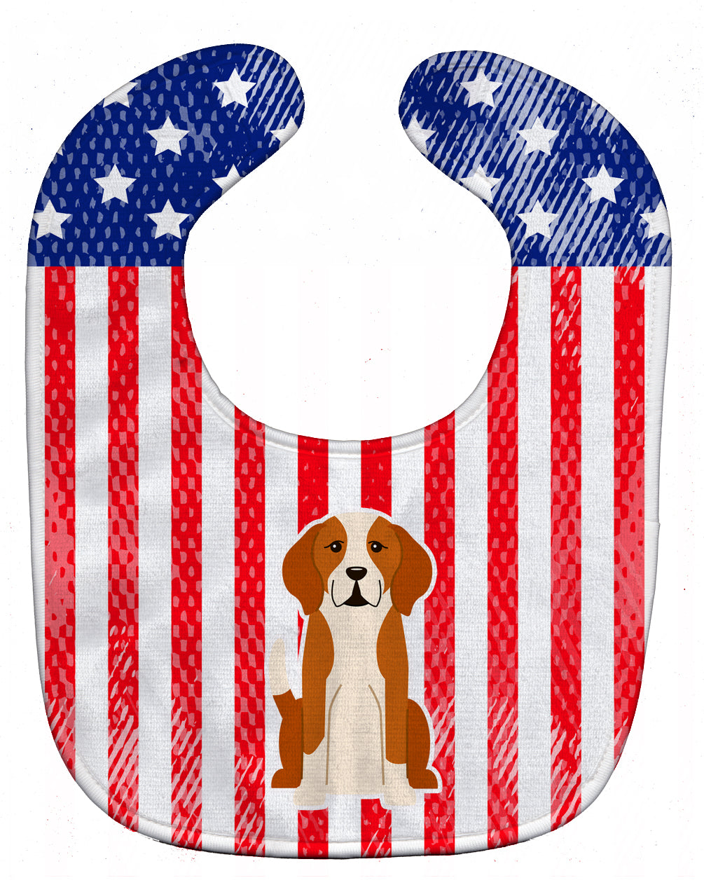 Patriotic USA English Foxhound Baby Bib BB3105BIB by Caroline's Treasures
