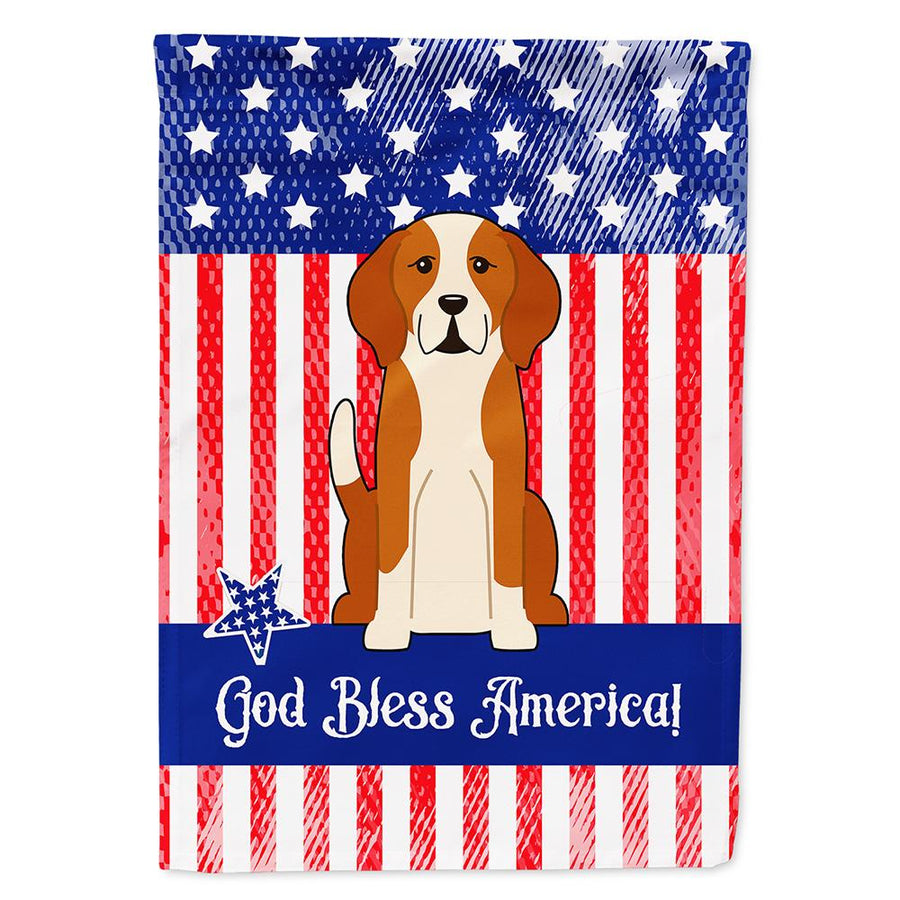 Buy this Patriotic USA English Foxhound Flag Garden Size