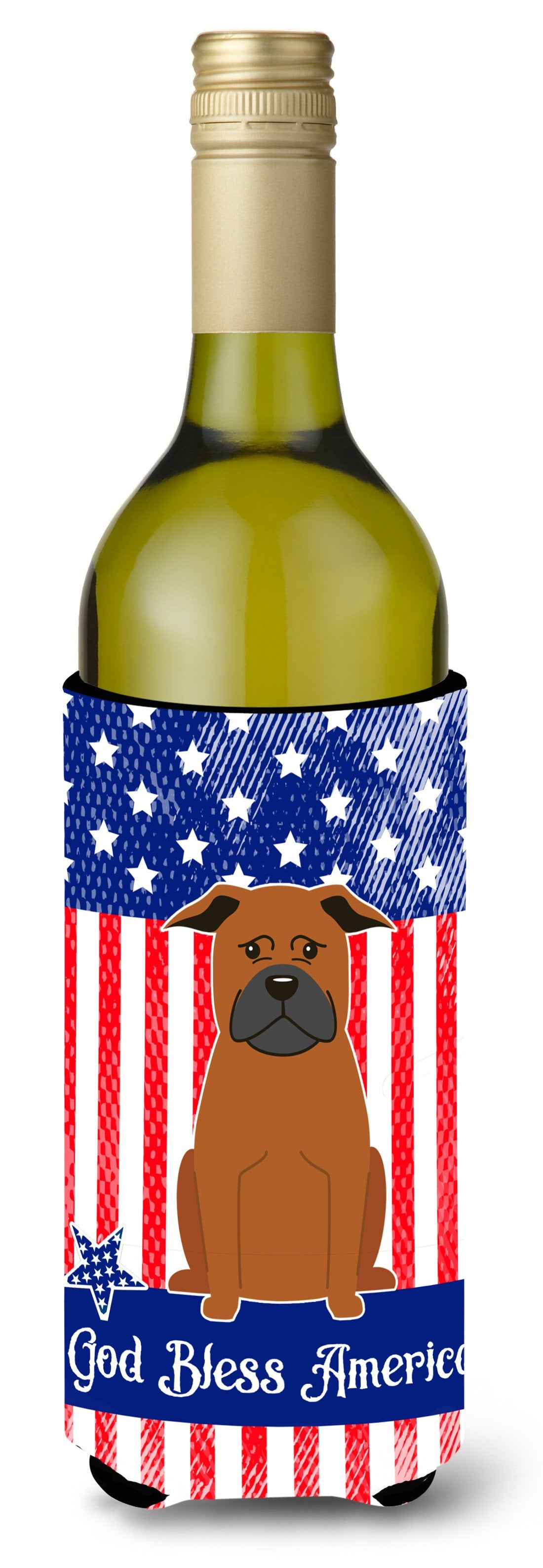 Buy this Patriotic USA Chinese Chongqing Dog Wine Bottle Beverge Insulator Hugger