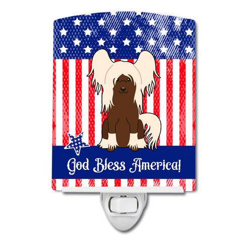 Buy this Patriotic USA Chinese Crested Cream Ceramic Night Light BB3108CNL