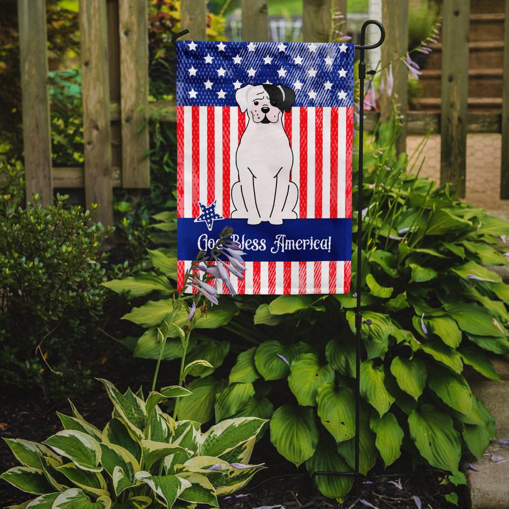 Patriotic USA White Boxer Cooper Flag Garden Size BB3109GF by Caroline's Treasures