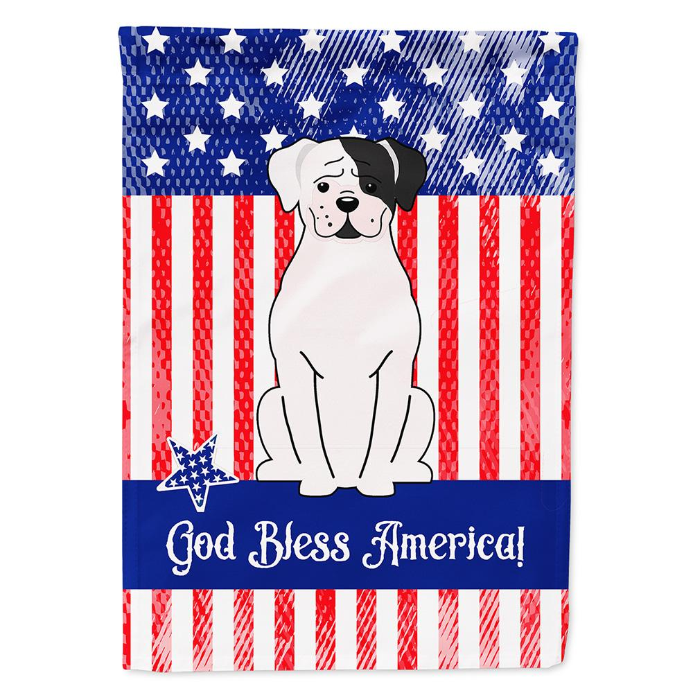 Buy this Patriotic USA White Boxer Cooper Flag Garden Size BB3109GF