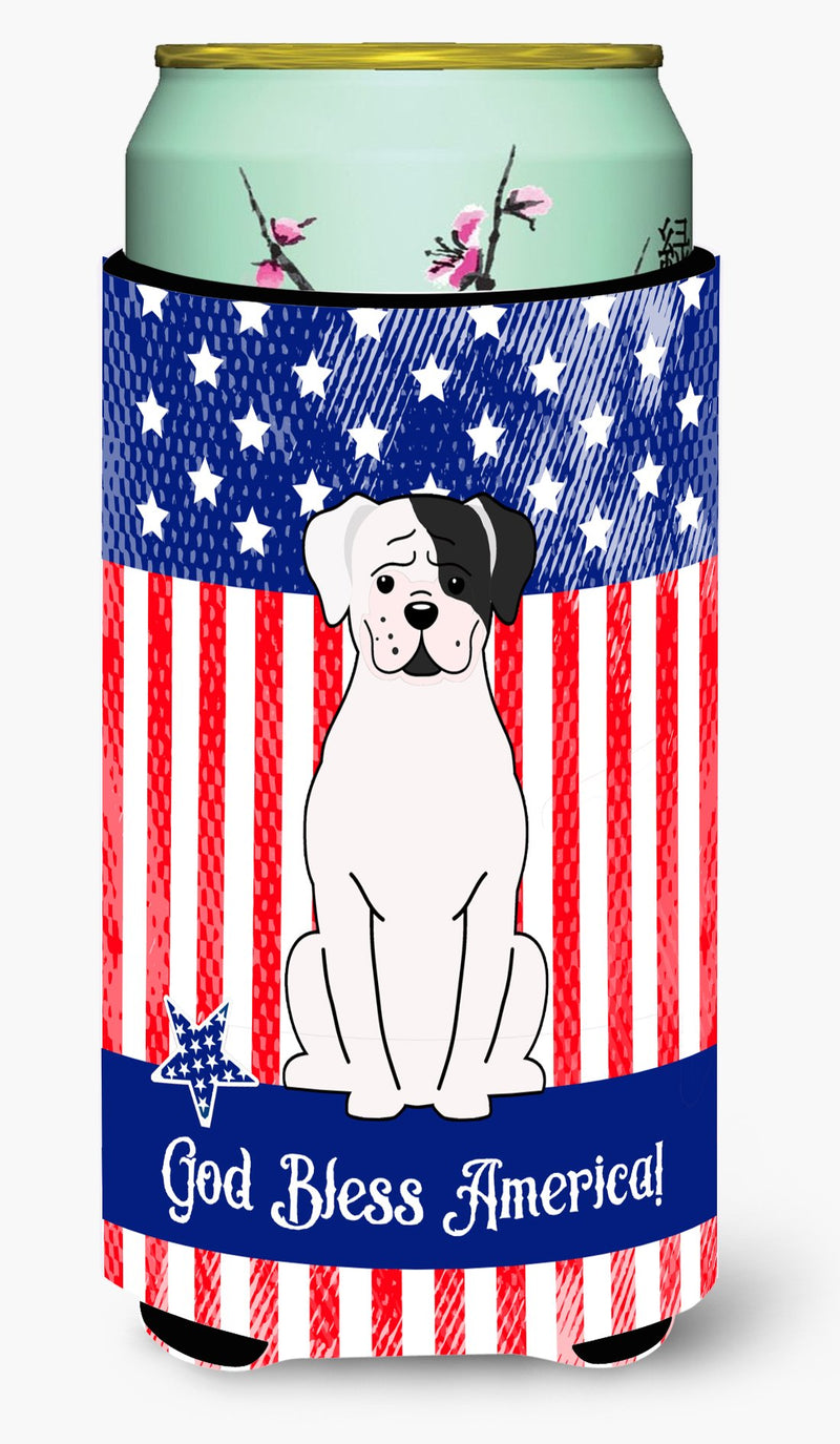 Buy this Patriotic USA White Boxer Cooper Tall Boy Beverage Insulator Hugger