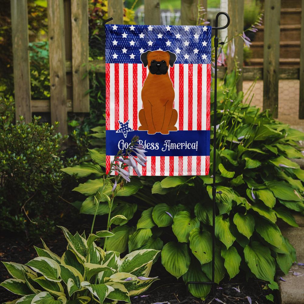 Patriotic USA Fawn Boxer Flag Garden Size BB3110GF by Caroline's Treasures