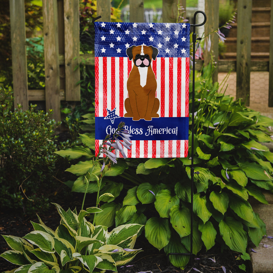 Buy this Patriotic USA Flashy Fawn Boxer Flag Garden Size BB3111GF