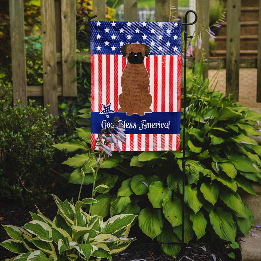 Buy this Patriotic USA Brindle Boxer Flag Garden Size BB3112GF