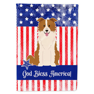 Buy this Patriotic USA Border Collie Red White Flag Garden Size