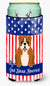 Buy this Patriotic USA English Bulldog Red White Tall Boy Beverage Insulator Hugger
