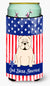 Buy this Patriotic USA English Bulldog White Tall Boy Beverage Insulator Hugger