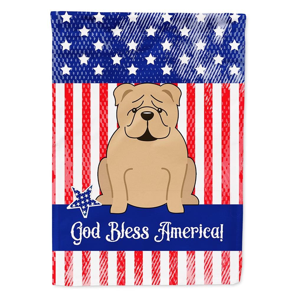 Buy this Patriotic USA English Bulldog Fawn Flag Garden Size BB3119GF