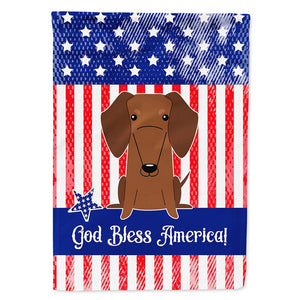 Buy this Patriotic USA Dachshund Red Brown Flag Garden Size