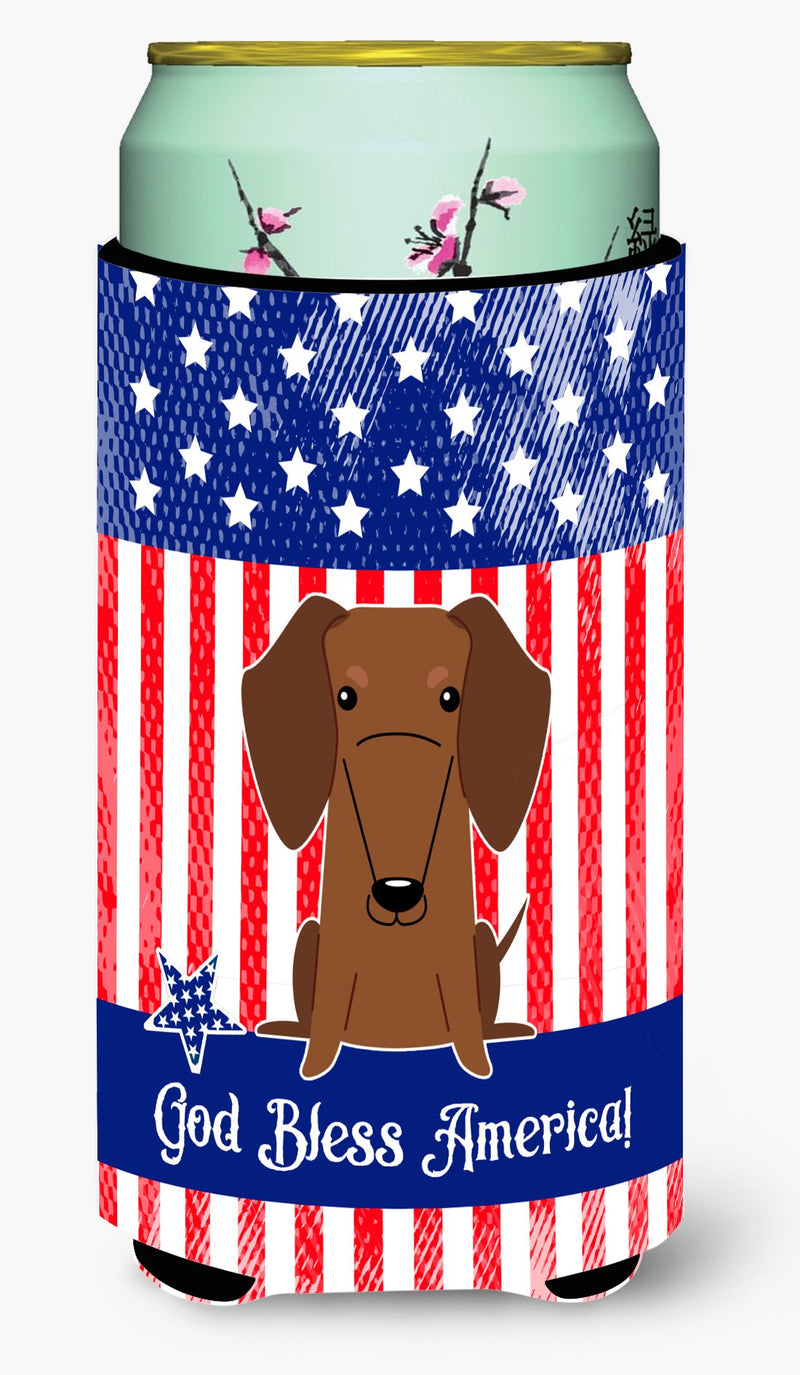 Buy this Patriotic USA Dachshund Red Brown Tall Boy Beverage Insulator Hugger